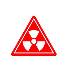 Radiation danger sign caution chemical hazards vector