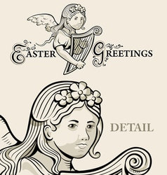 Retro Easter greeting vector image