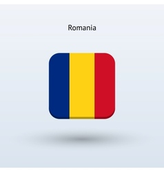 Romania flag icon vector