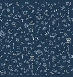 Seamless pattern with education back to vector