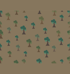 seamless tree background pattern vector image