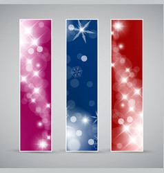 Set of christmas new year banners vector