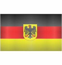 Shiny grunge flag germany vector