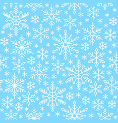 snow flake line seamless pattern winter background vector image