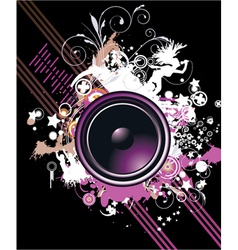 speaker with floral vector image