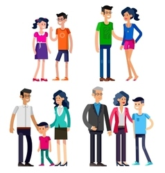 Stages of life young couple vector image