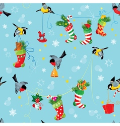 Stockings birds seamless 380 vector