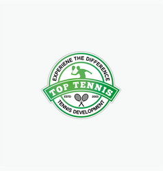 Top tennis vector