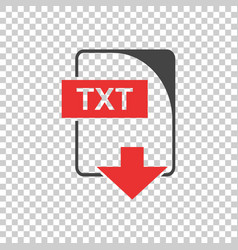 Txt icon flat vector
