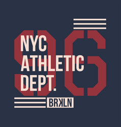 vintage label athletic sport typography for t vector image