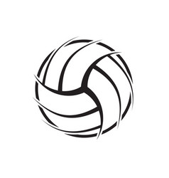 Volleyball abstract symbol vector