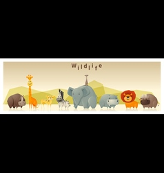 Wild animal background 1 vector