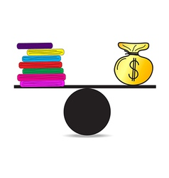 Work and money vector image