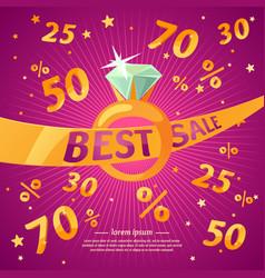 Best sale banner original concept discount poster vector