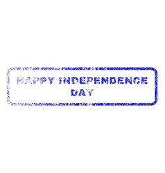 happy independence day rubber stamp vector image