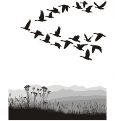migrating geese vector image vector image