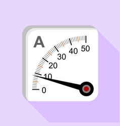 moving iron type analog panel ammeter icon vector image
