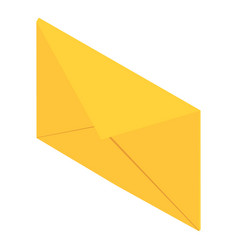 post envelope icon isometric 3d style vector image