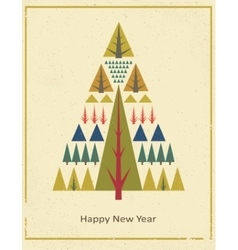 Vintage old grunge concept Merry christmas vector image