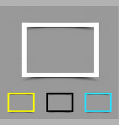 a4 paper frame horizontal vector image