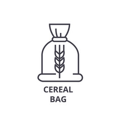 Ceral bag line icon outline sign linear symbol vector