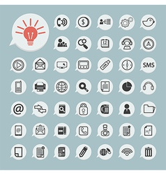 communication icons and Technology Icon on blue pa vector image