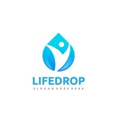 Community water drop logo vector