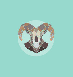 geometric head mountain sheep vector image