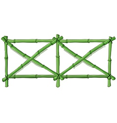 Green bamboo fence vector