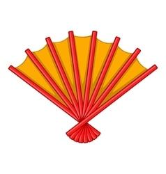 Japanese folding fan icon cartoon style vector image