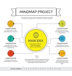 Mindmap scheme infographic design concept vector image vector image