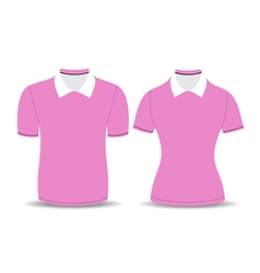 pink polo shirt outline vector image