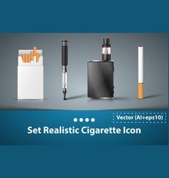 set cigarette electronic icon vector image