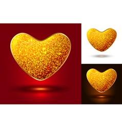 Set of shiny icons hearts vector image