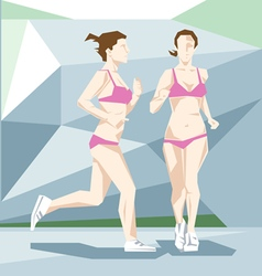 An abstract woman in swimming suit vector image