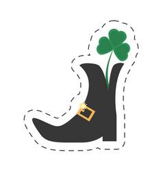 cartoon st patricks day boot clover vector image