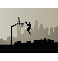cityscape slam dunk vector image vector image