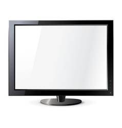 Computer display isolated on white Frontal view vector image vector image