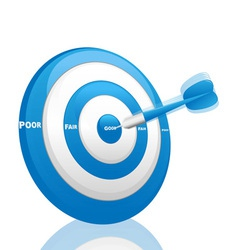 evaluation dart vector image