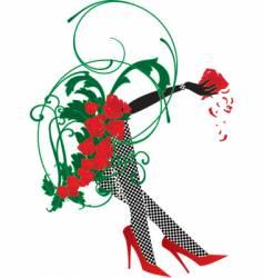 lady legs vector image