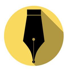 pen sign flat black icon vector image