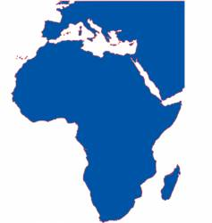 african continent vector image