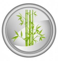 button with a bamboo vector vector image vector image