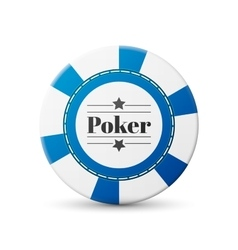 Casino chip vector image