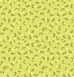 Floral pattern with leaves vector image vector image