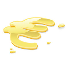 liquid gold euro symbol sign vector image