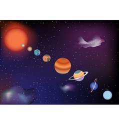 Parade of planets vector image vector image