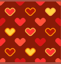 seamless cartoon background with stylized hearts vector image vector image