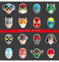 Super hero masks for face character Superhero vector image