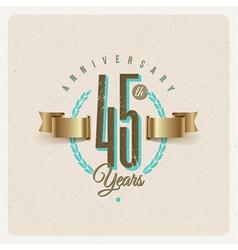 Vintage Anniversary type emblem vector image vector image